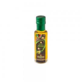 Condimento a base di Olio ExtraVergine di oliva aromatizzato al basilico in bottiglia di vetro da 0,25lt