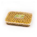 Olive verdi denocciolate in salamoia confezionate in vaschettone da 3000g peso sgocciolato 2000g.