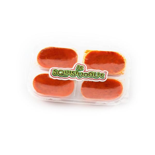 Patè di peperoncino piccante in olio extra vergine di oliva, confezionato in vaschette da 140g